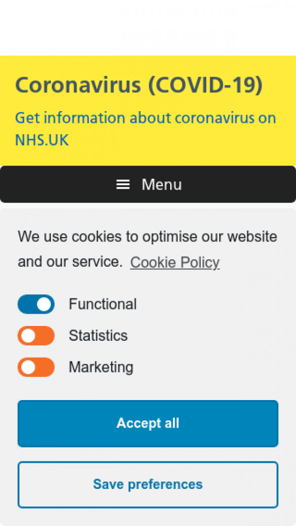 Mobile screenshot of NHS County Durham CCG website