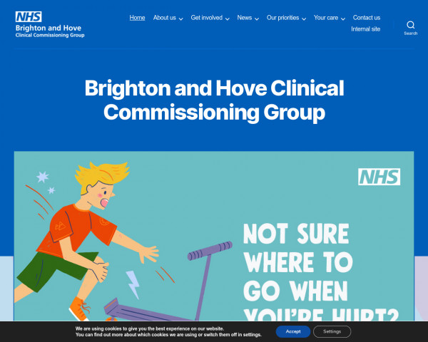 Screenshot of Brighton and Hove Clinical Commissioning Group - NHS Brighton and Hove CCG