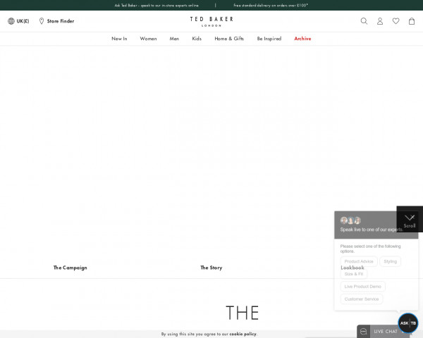 Screenshot of The Spring Collection   Ted Baker UK
