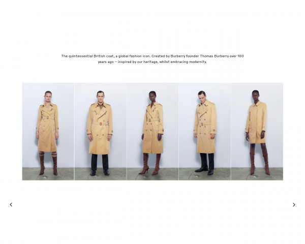 Screenshot of The Trench Coat | Trench Design Details & Fits | Burberry® Official
