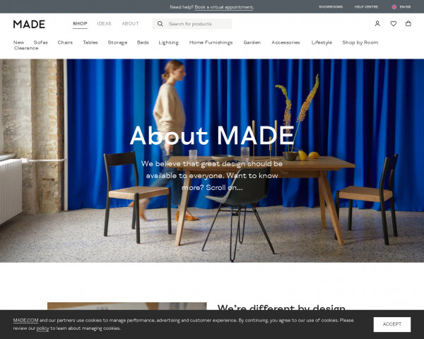Screenshot of About MADE