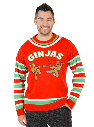Ugly Christmas Sweater Ginjas