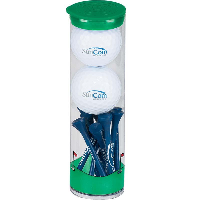 SunCom Green Balls and Tees Tube