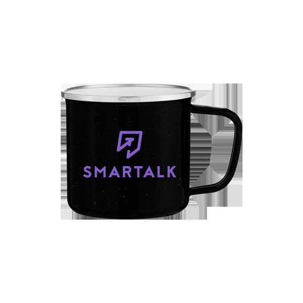SmartTalk Black Steel Enamel Mug