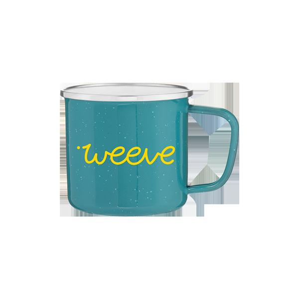 Weeve Teal Steel Enamel Mug