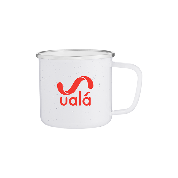 Uala White Steel Enamel Mug