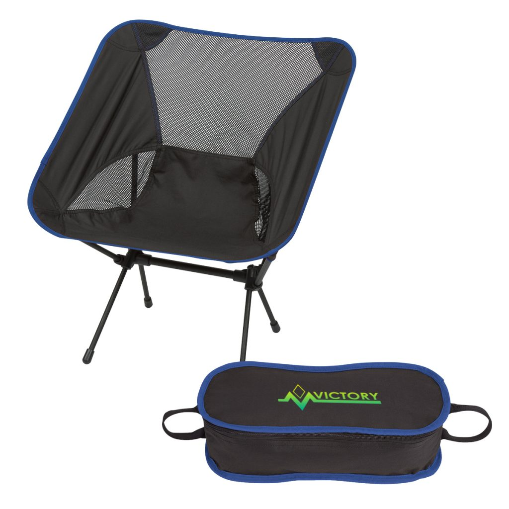 Victory Blue Folding Chair with Travel Bag