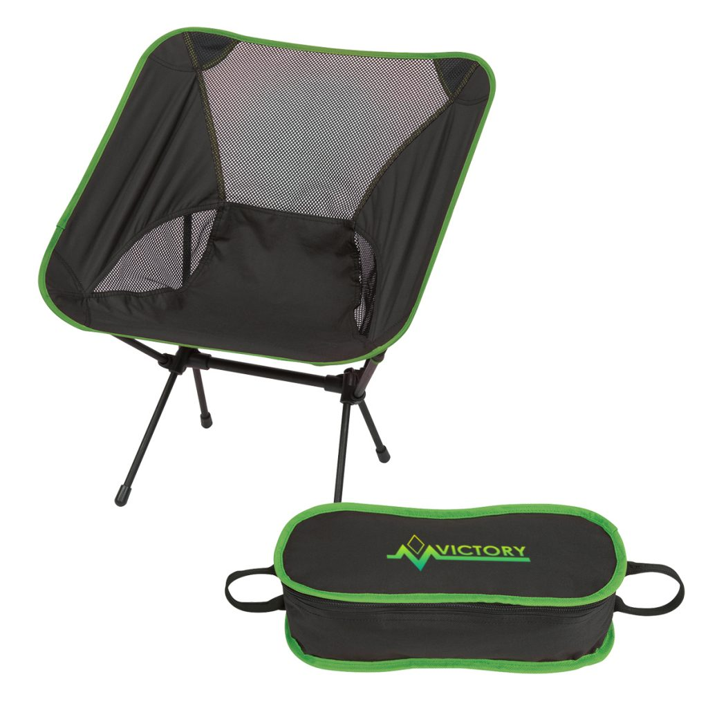 Victory Green Folding Chair with Travel Bag