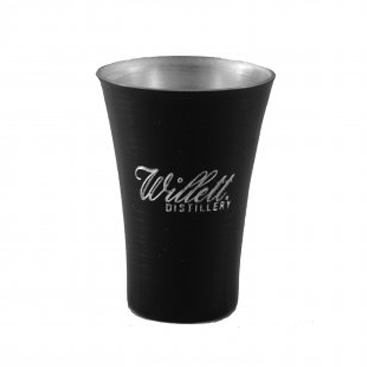 Engraved Metal Black Shot Glass