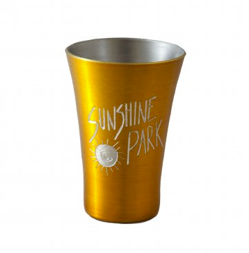 Engraved Metal Gold Shot Glass