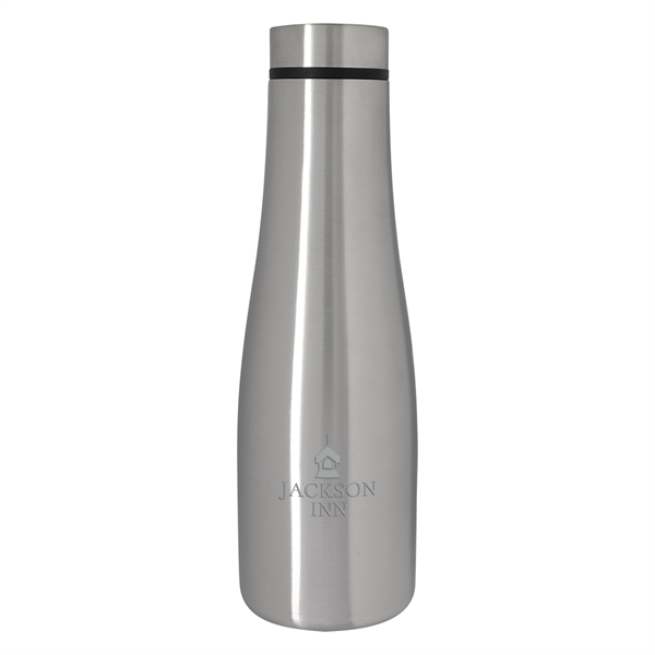 Lincoln Silver Stainless Steel Bottle