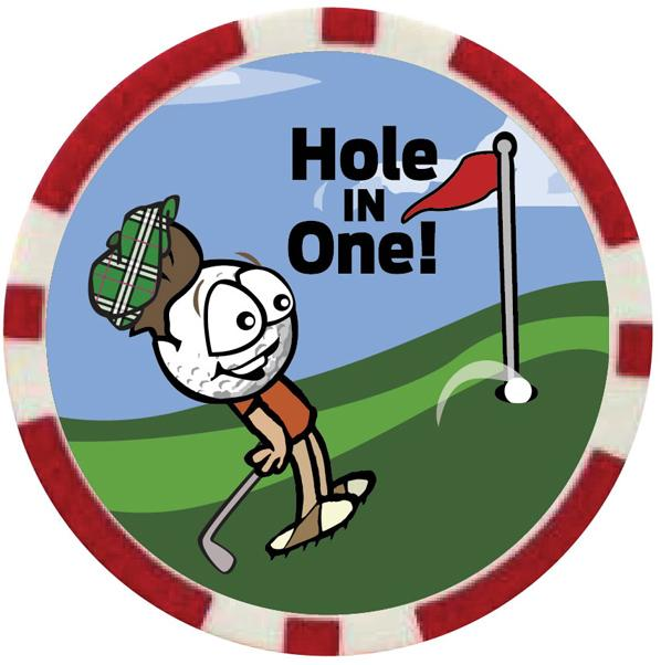Hole in One Vegas Golf Badge