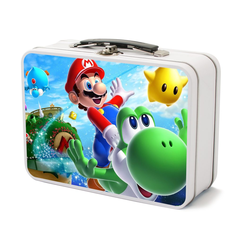 Silver Mario lunchbox tech kit