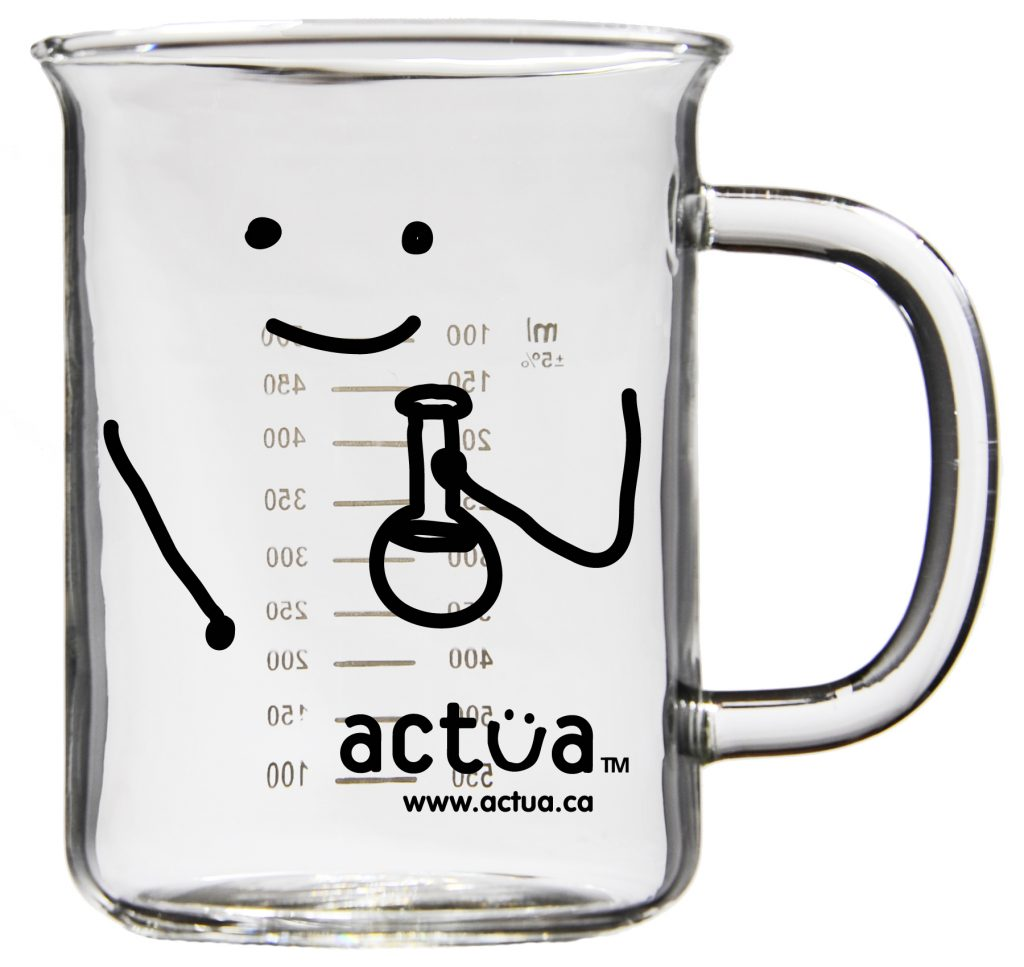 Actua Glass Beaker Mug Black