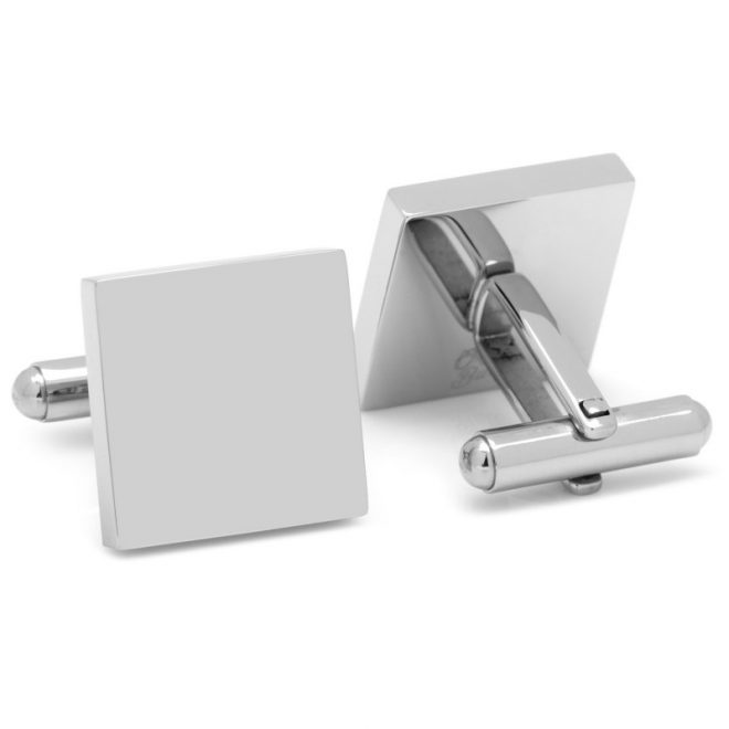Stainless Steel Square Engravable Cufflinks