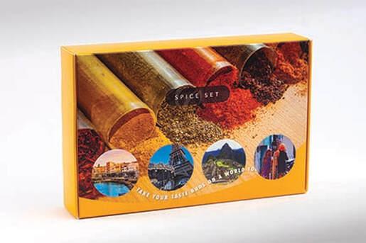 Spice Set Cork Square Gift Box