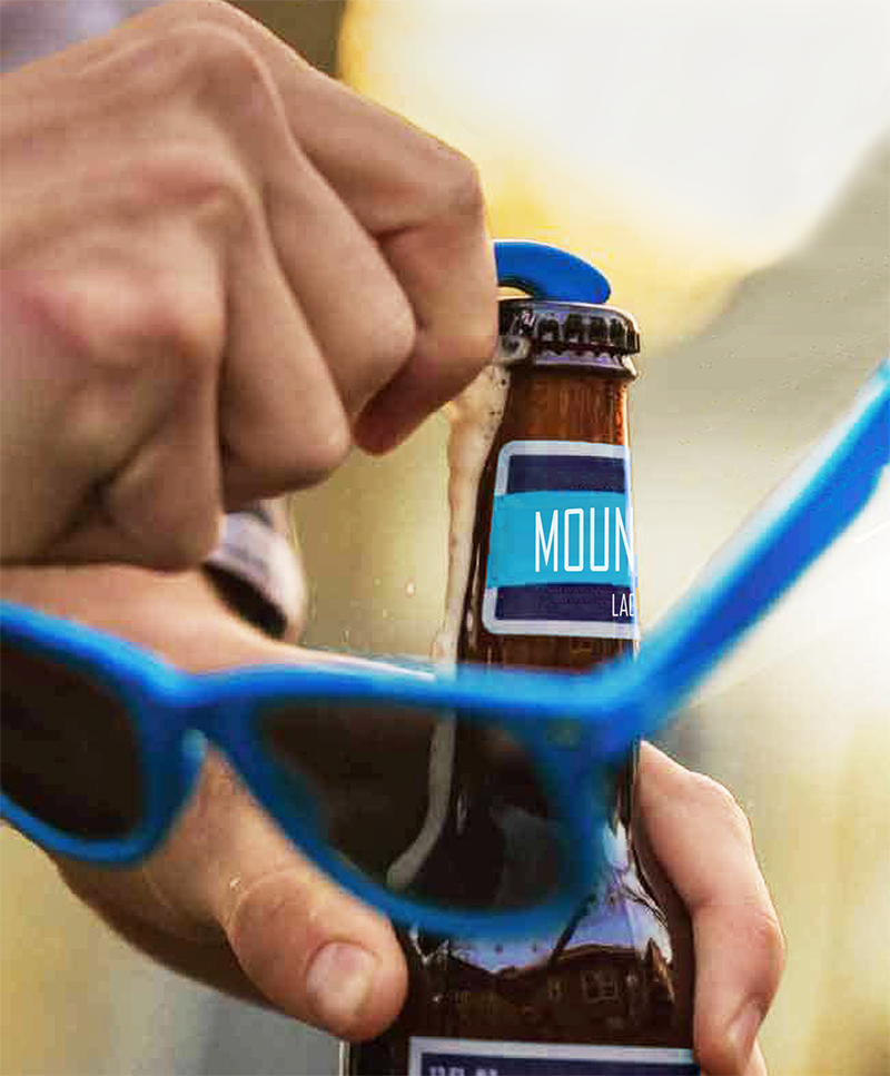 Bottle Opener Sunglasses Pop Bottle Blue