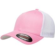 Mesh-Back Trucker Cap Pink