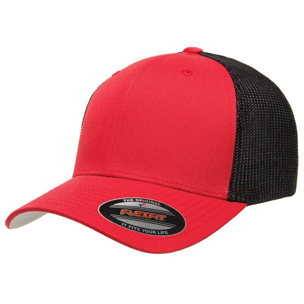Mesh-Back Trucker Cap Red/Black
