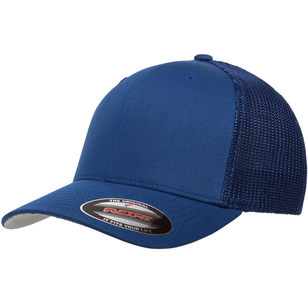Mesh-Back Trucker Cap Blue