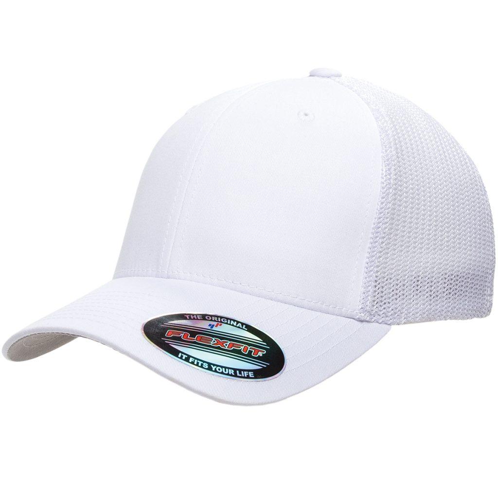 Mesh-Back Trucker Cap White