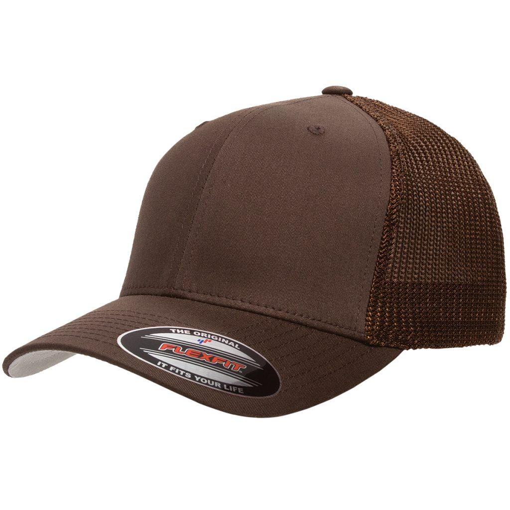 Mesh-Back Trucker Cap Brown