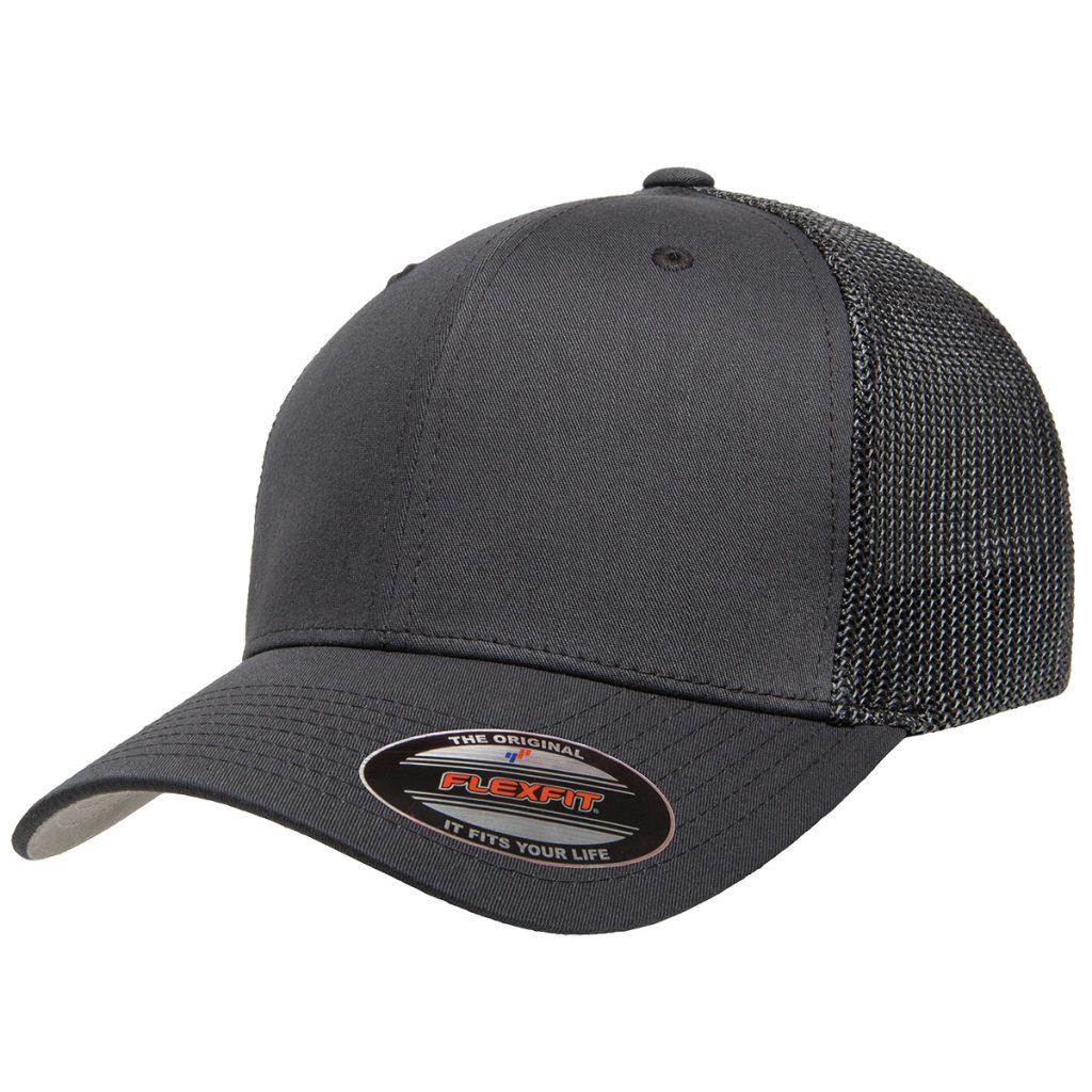Mesh-Back Trucker Cap Grey