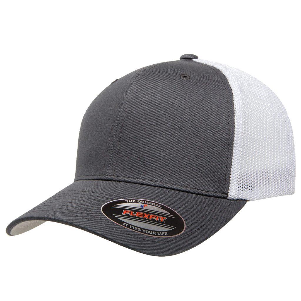 Mesh-Back Trucker Cap Grey/White