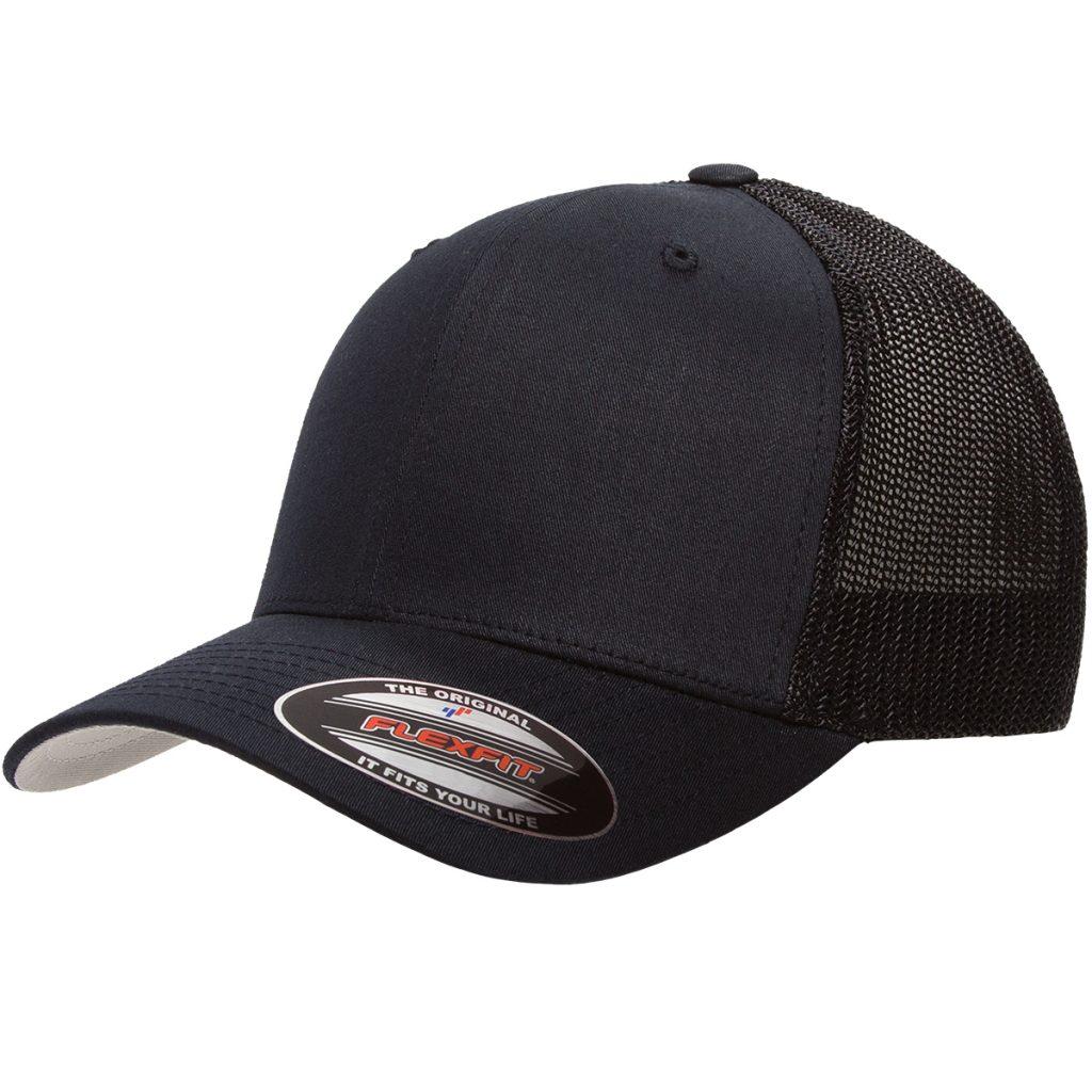 Mesh-Back Trucker Cap Black