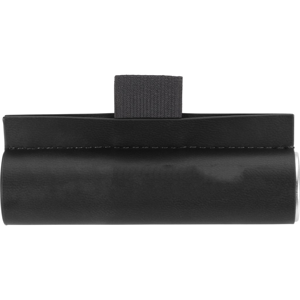 Cylinder Power Bank with Wrap Black Front