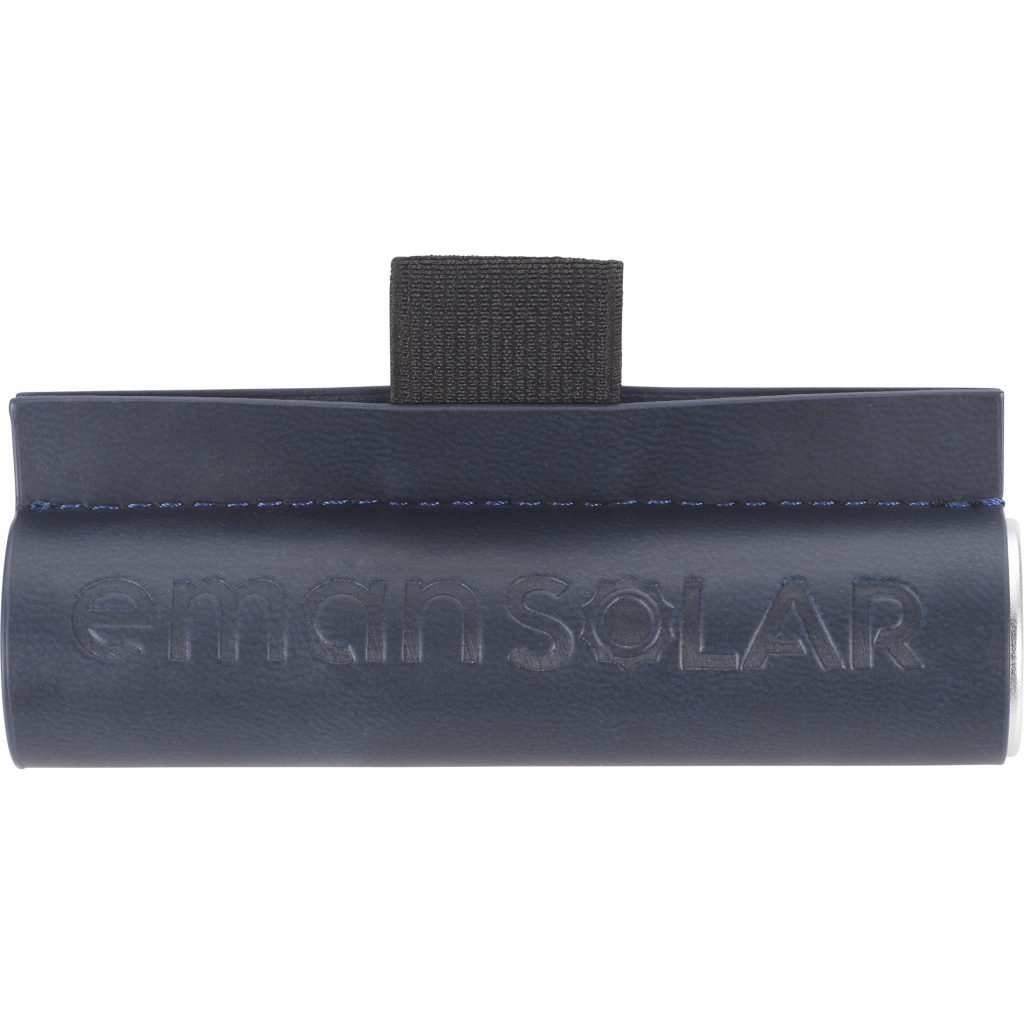 Cylinder Power Bank with Wrap Emansolar Front