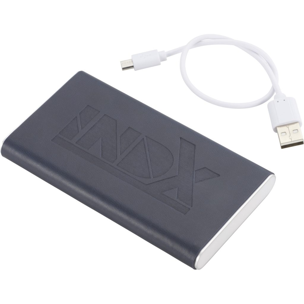 Rectangle Power Bank with Wrap Blur INDX Angle Right