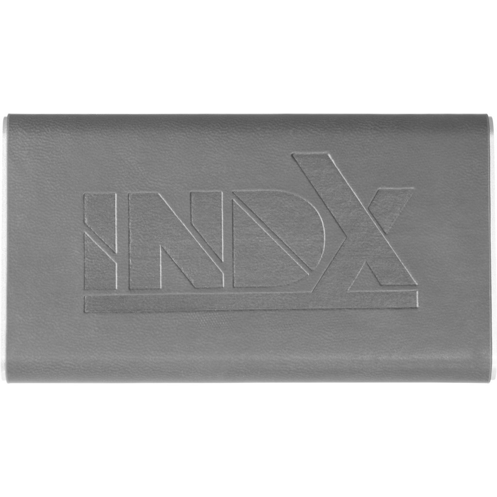 Rectangle Power Bank with Wrap Grey INDX Front