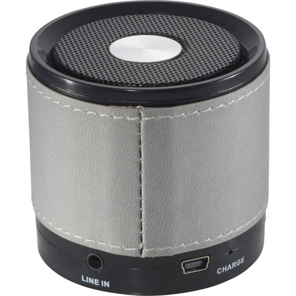 Bluetooth Grey Speaker with Wrap Back