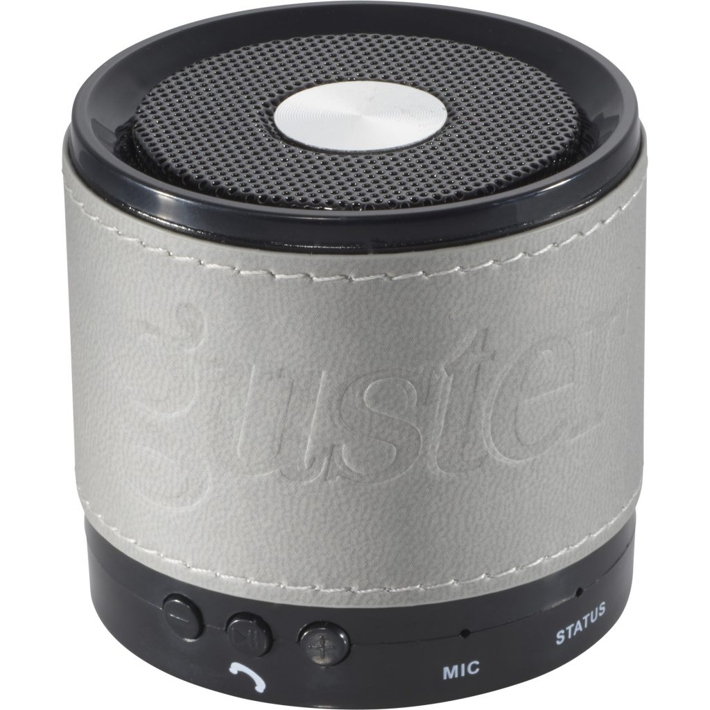 Bluetooth Grey Speaker with Wrap Guster Front