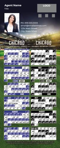 2020 Full Magnet Baseball Magnets - Chicago Combo