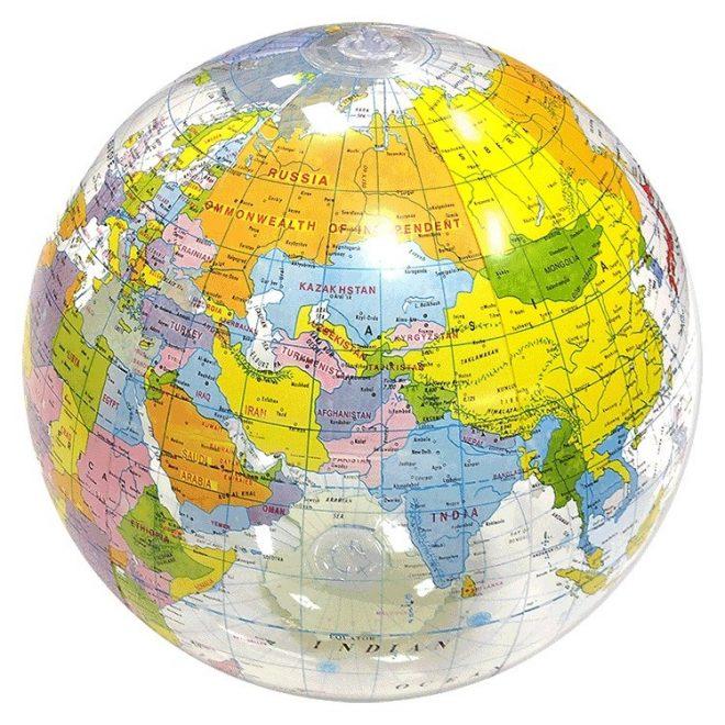"24"" Inflatable Globe Beach Ball"