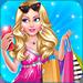 The beautiful girl is shopping