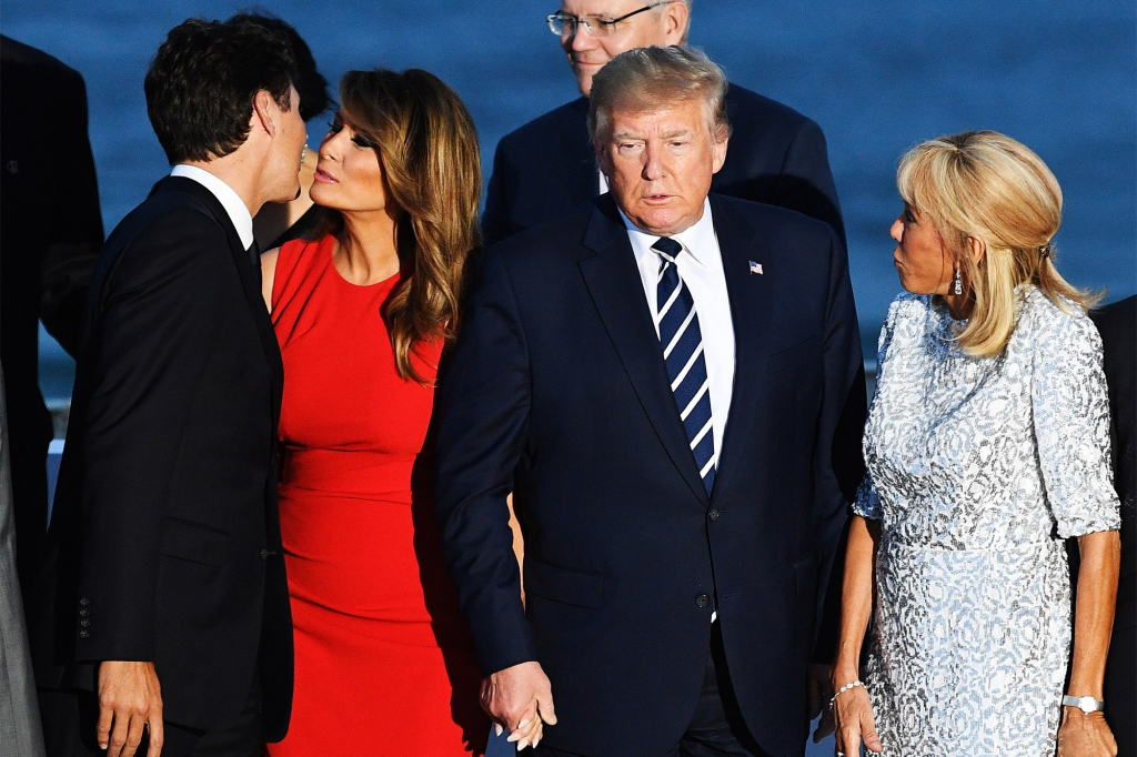 Melania was rumored to be making eyes at Justin Trudeau | 8 Surprising Facts About Donald Trump's Marriage | InstantHub
