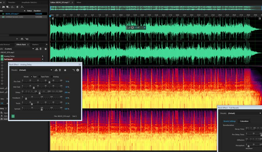 Audio any Produccion Musical waves