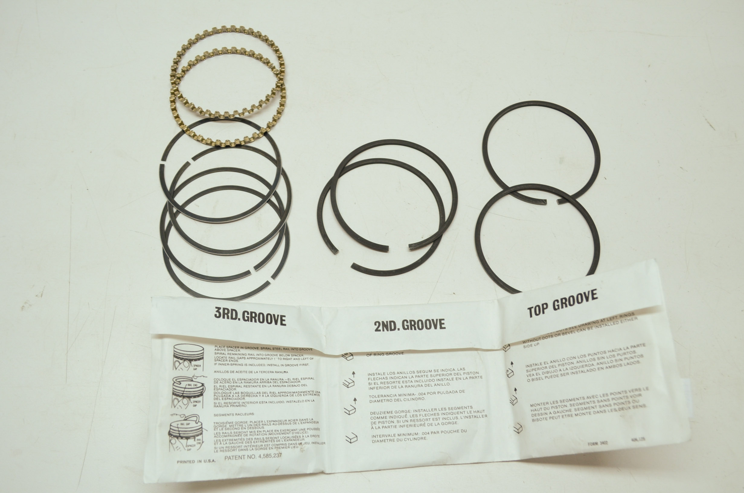 """Hastings Engine Piston Ring Set 139020; 4.020/"""" Bore Standard Fit Replacement"""
