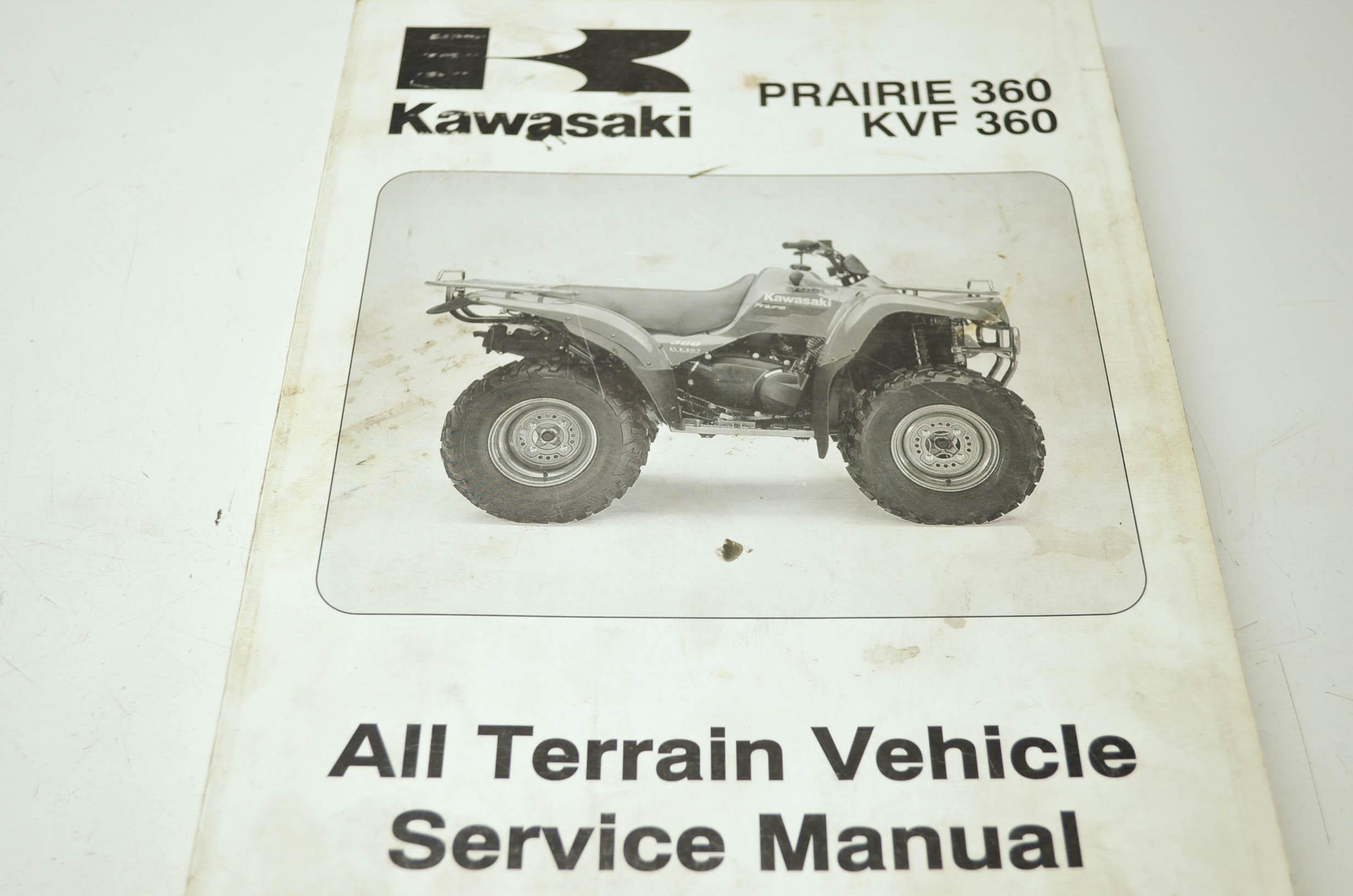kawasaki prairie 360 kvf 360 service manual ebay rh ebay com kawasaki kvf 360 service manual download kawasaki kvf 360 service manual download