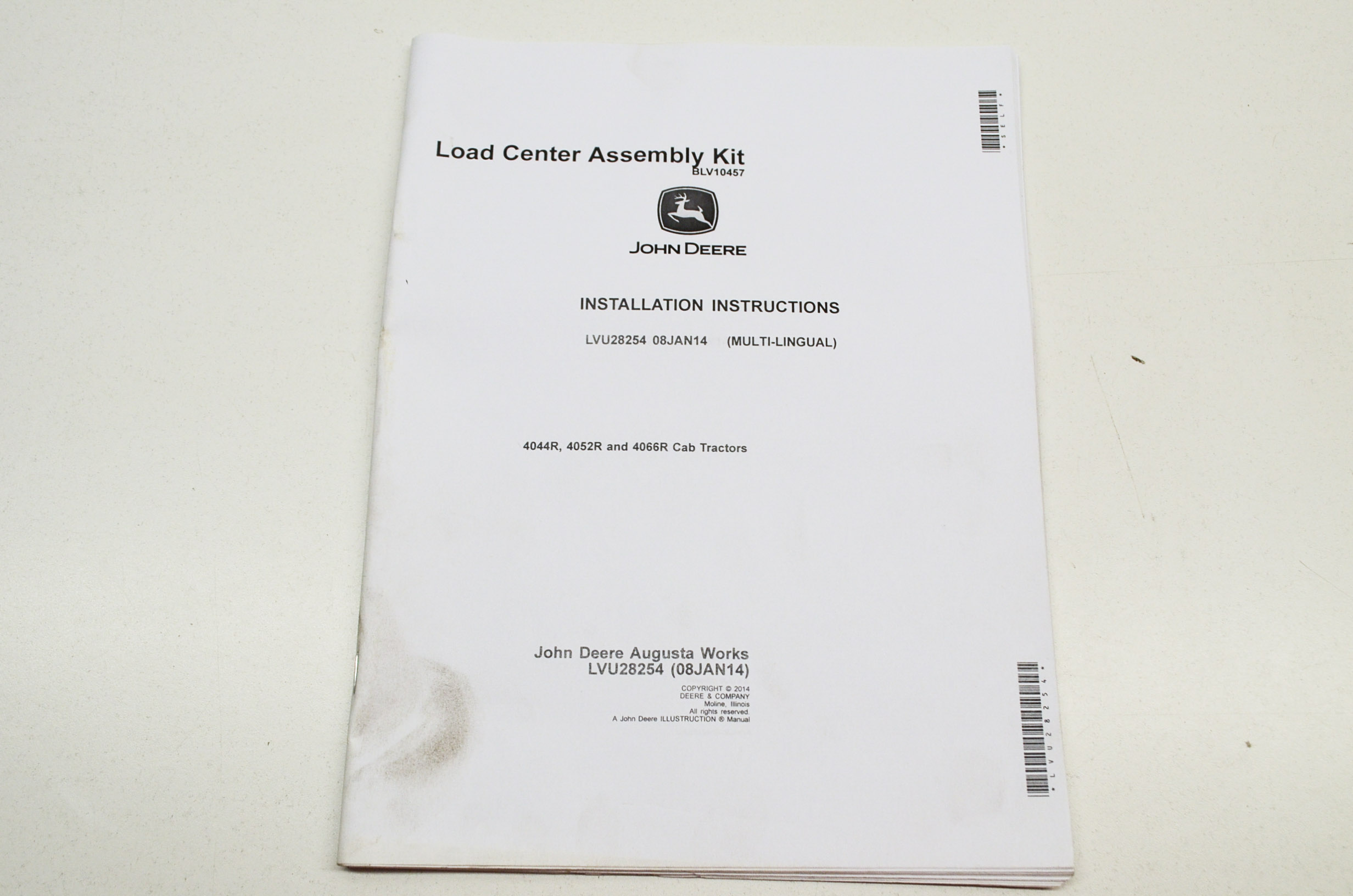 oem john deere installation instructions load center assembly kit