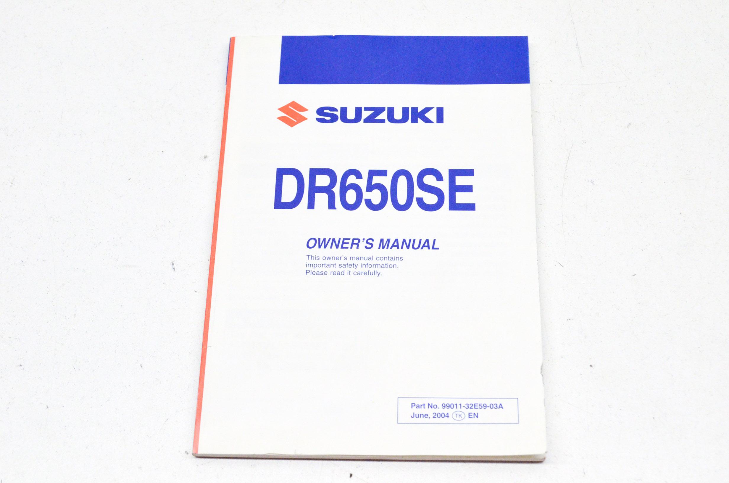 Details about New OEM Suzuki Owner's Manual DR650SE NOS