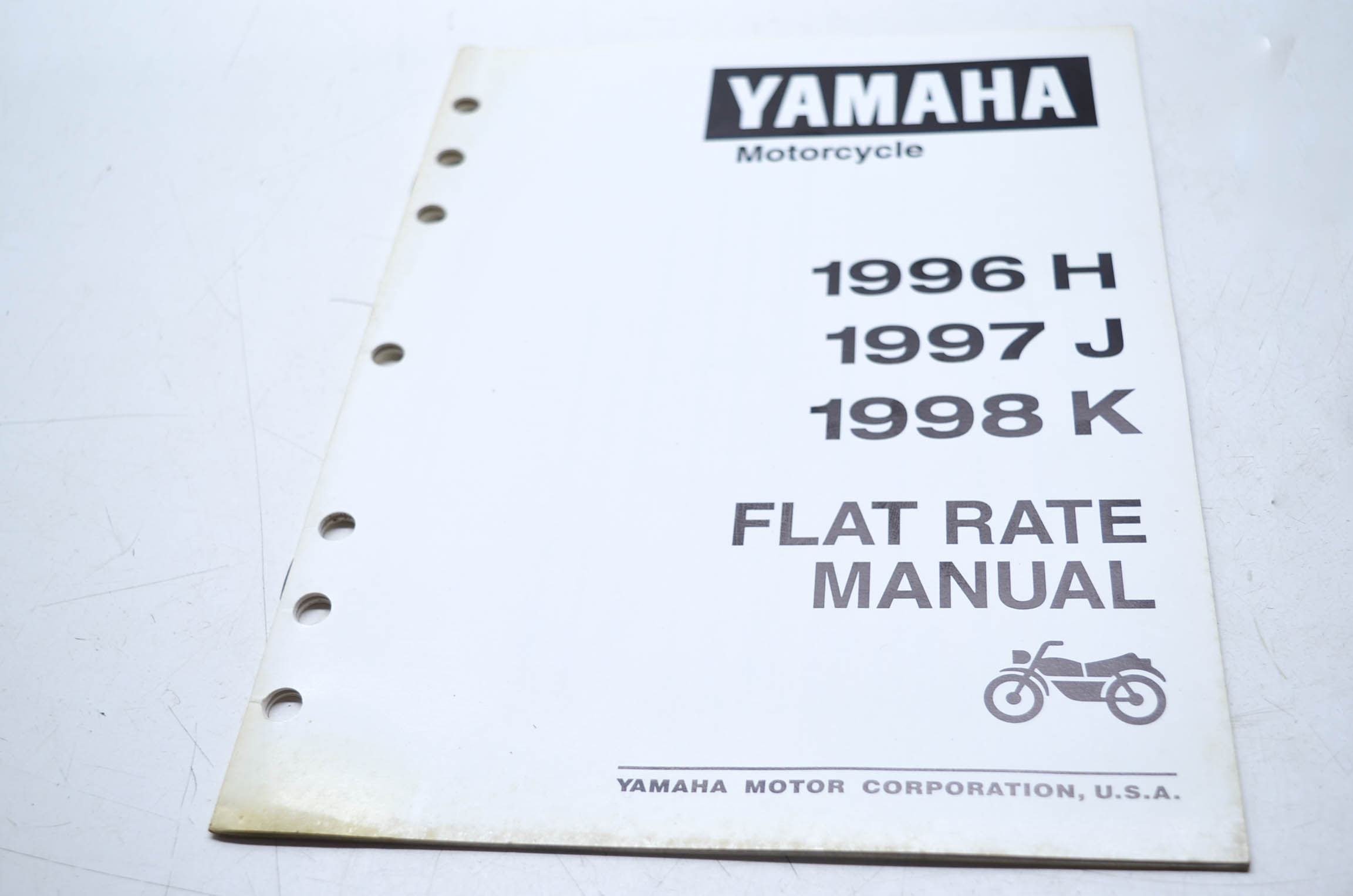 yamaha motorcycle flat rate manual