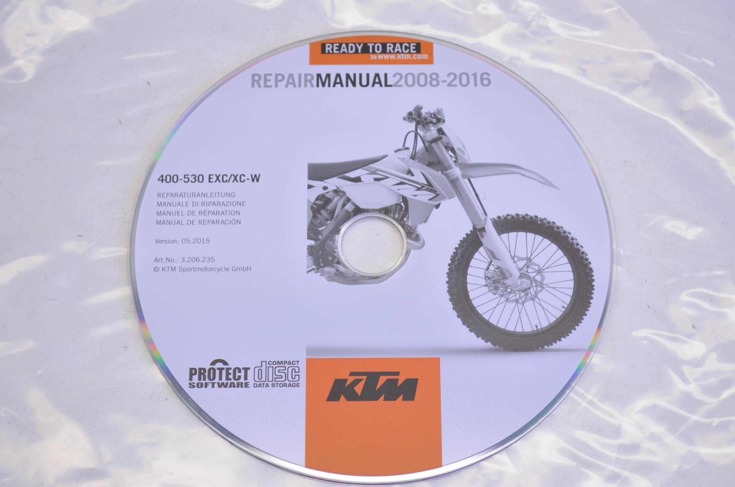 GENUINE KTM CD REPAIR MANUAL  2008-2013   400-530 EXC//XC-W  #3206152