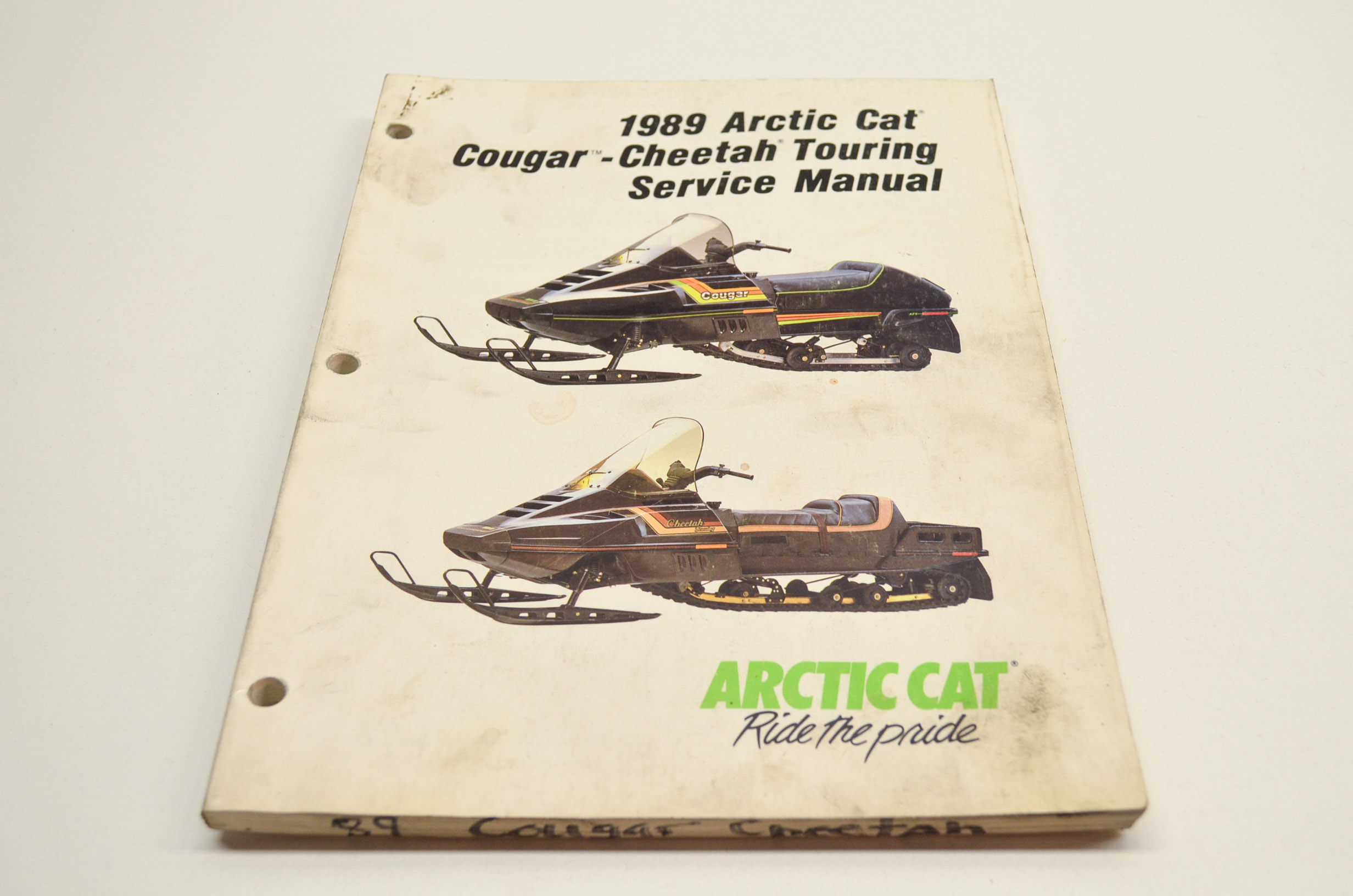 arctic cat 1989 cougar cheetah touring service manual ebay rh ebay com Arctic Cat ATV Repair Manuals 2002 Arctic Cat 300 ATV