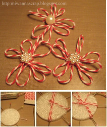 Twine flower tutorial