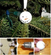 golf ball ornaments