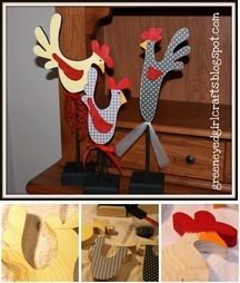 Wood Roosters